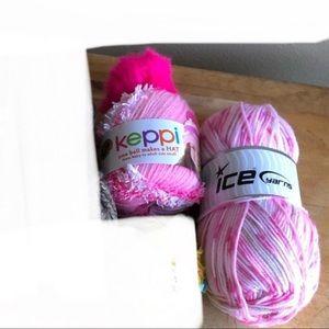 Pink Bundle of Yarn